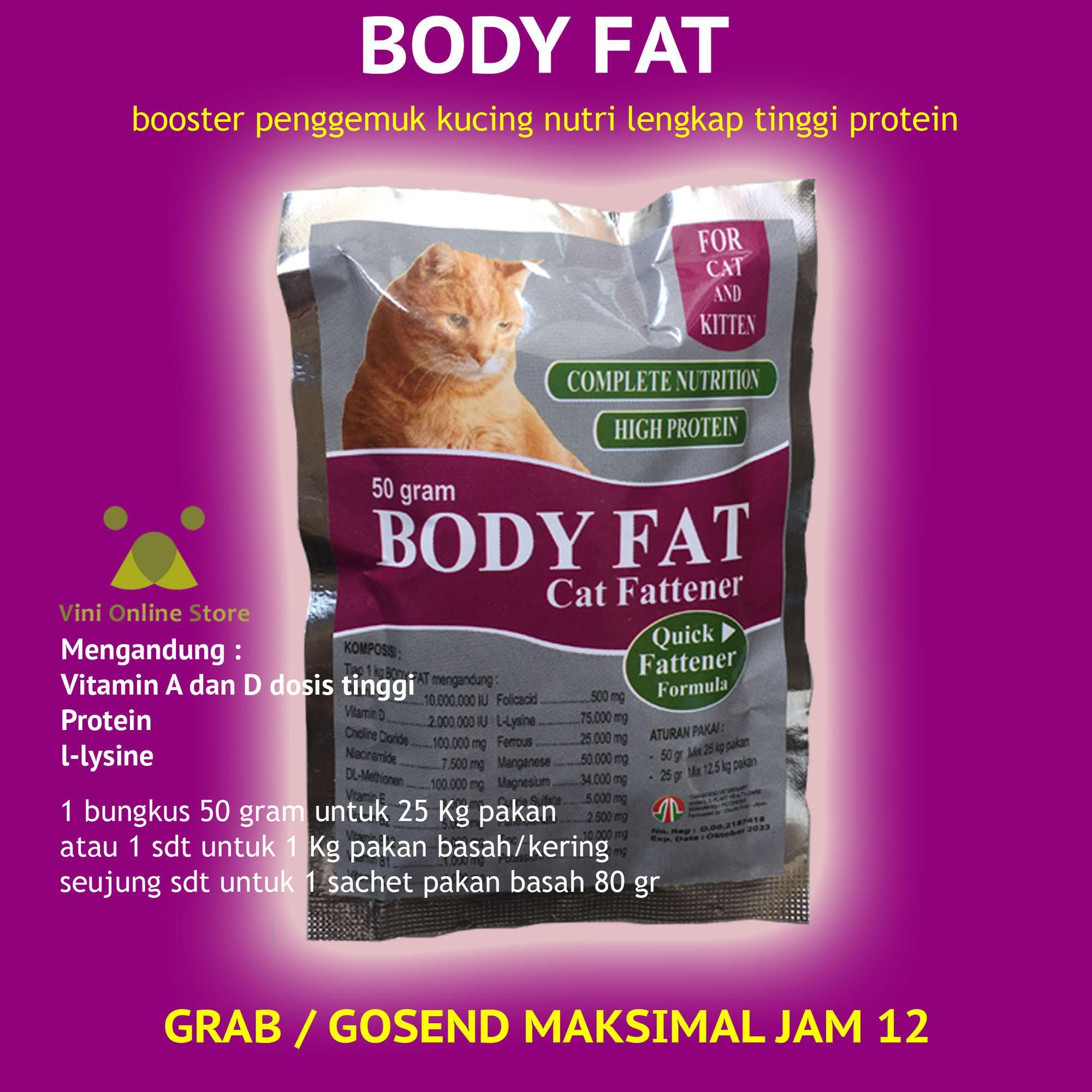 Body Fat Vitamin Booster Penggemuk Kucing By Vini Store.