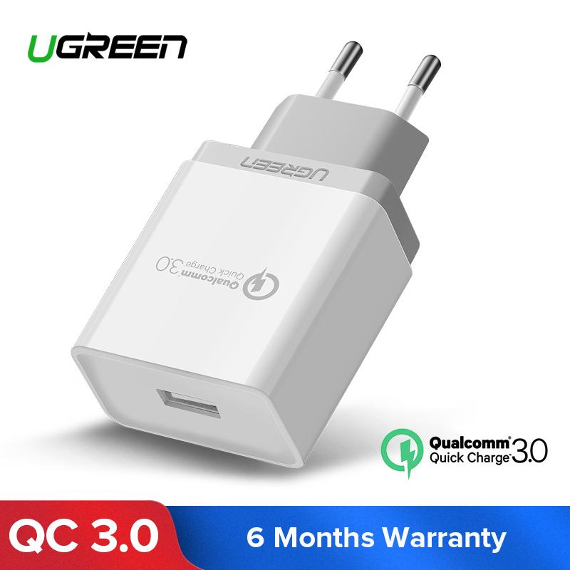 UGREEN QC3.0 Charger Quick Charge 3.0 Charger Fast Handphone Charger for Samsung Xiaomi LG VIVO Apple iPhone  Redmi OPPO