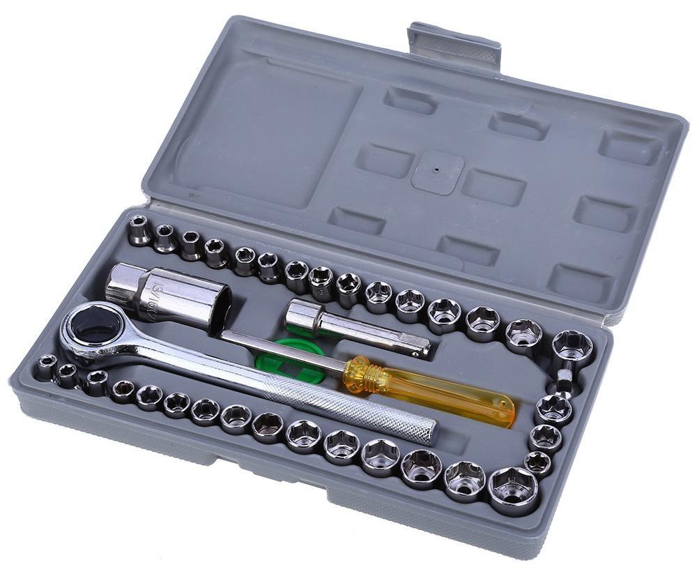 HBS Mitsuyama 40pcs Kombinasi Kunci Socket - Kunci Sok Set 40 pcs - Kunci Socket Wrench