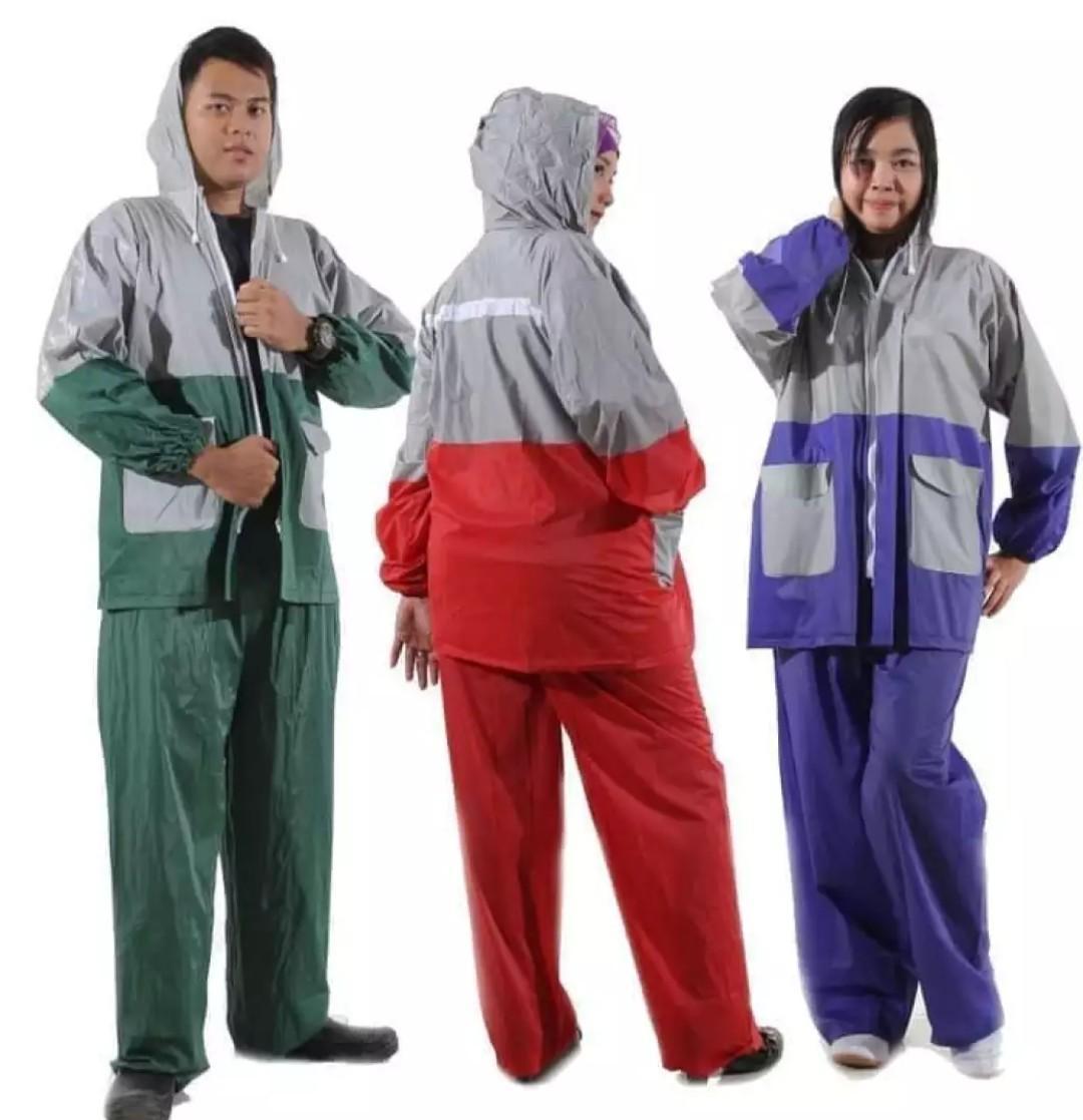 Mantel Jas Hujan model Jaket Celana untuk Pria dan Wanita
