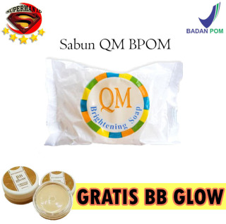 SUPERMAN ID - PROMO Sabun QM Glowing + GRATIS BB Glow Asli BB Glow Crystal Cream Original 100% - Sabun Pencerah Badan dan Wajah - Sabun Mencerahkan Wajah Glowing Krim Wajah Glowing Melembabkan Memutihkan Wajah thumbnail