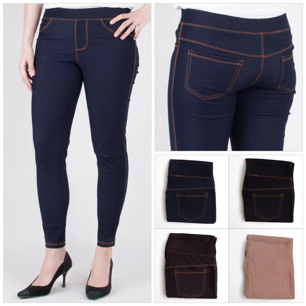 Cnd3011 Promo Celana Legging Jeans Warna Hitam Navy Coklat Lazada Indonesia