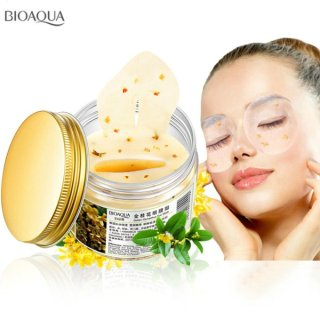 BIOAQUA GOLDEN OSMANTHUS EYE MASK - MASKER MATA GOLDEN OSMANTHUS ISI 80 LEMBAR - Penghilang mata panda - menghilangkan lingkaran hitam area mata - pengencang kulit area mata - krim mata - eye cream - topeng mata - pencerah pelembab area kulit mata thumbnail