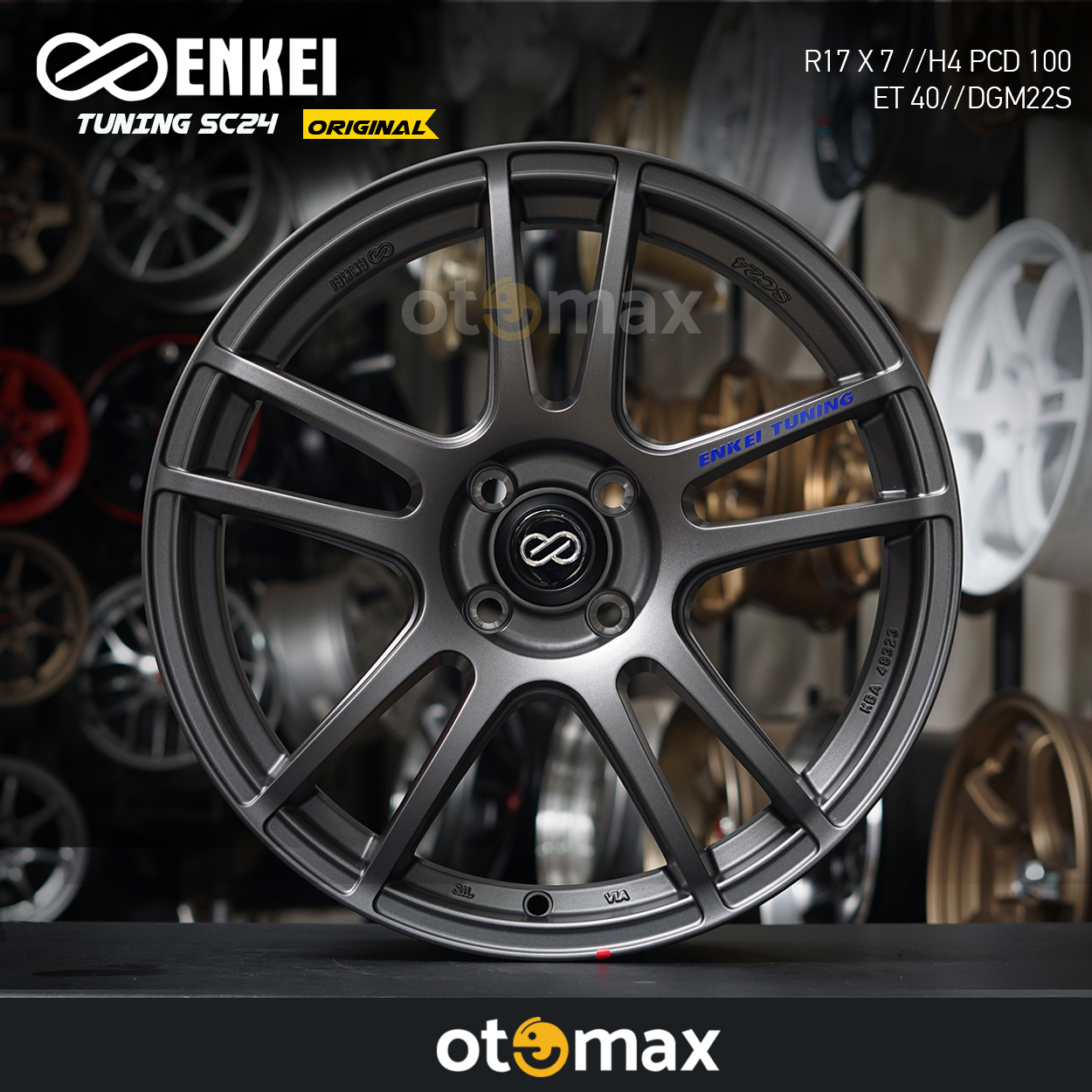 Velg Mobil Enkei Tuning SC24 Original Ring 17 DGM22S
