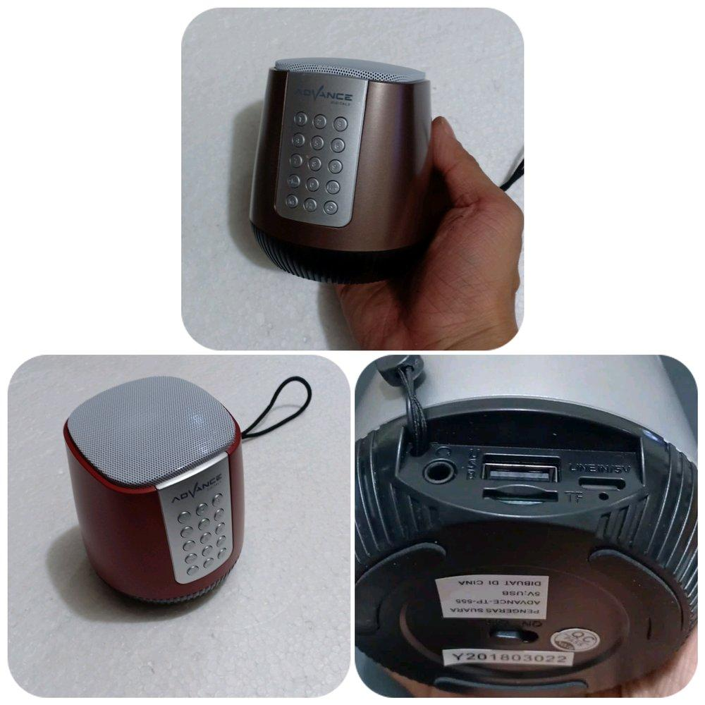 Tampilan speaker tahfidz Advance TP555.