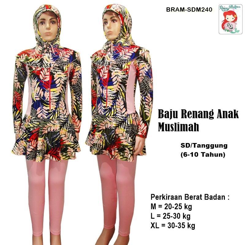 Rainy Collections Baju Renang Anak 6-10 Tahun Muslim Motif