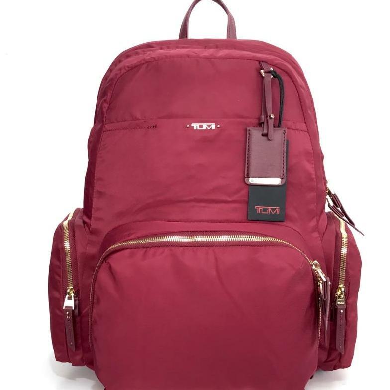 Tumi Calais Backpack Maroon