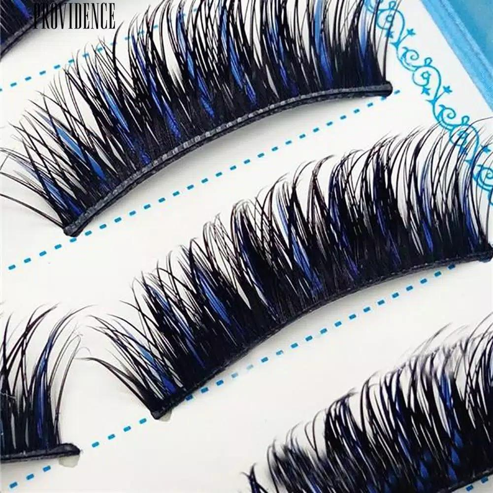 Anneui - BMS0003 - 5 Pasang Bulu Mata Atas Fake Eyelash Dengan Aksen Warna Biru