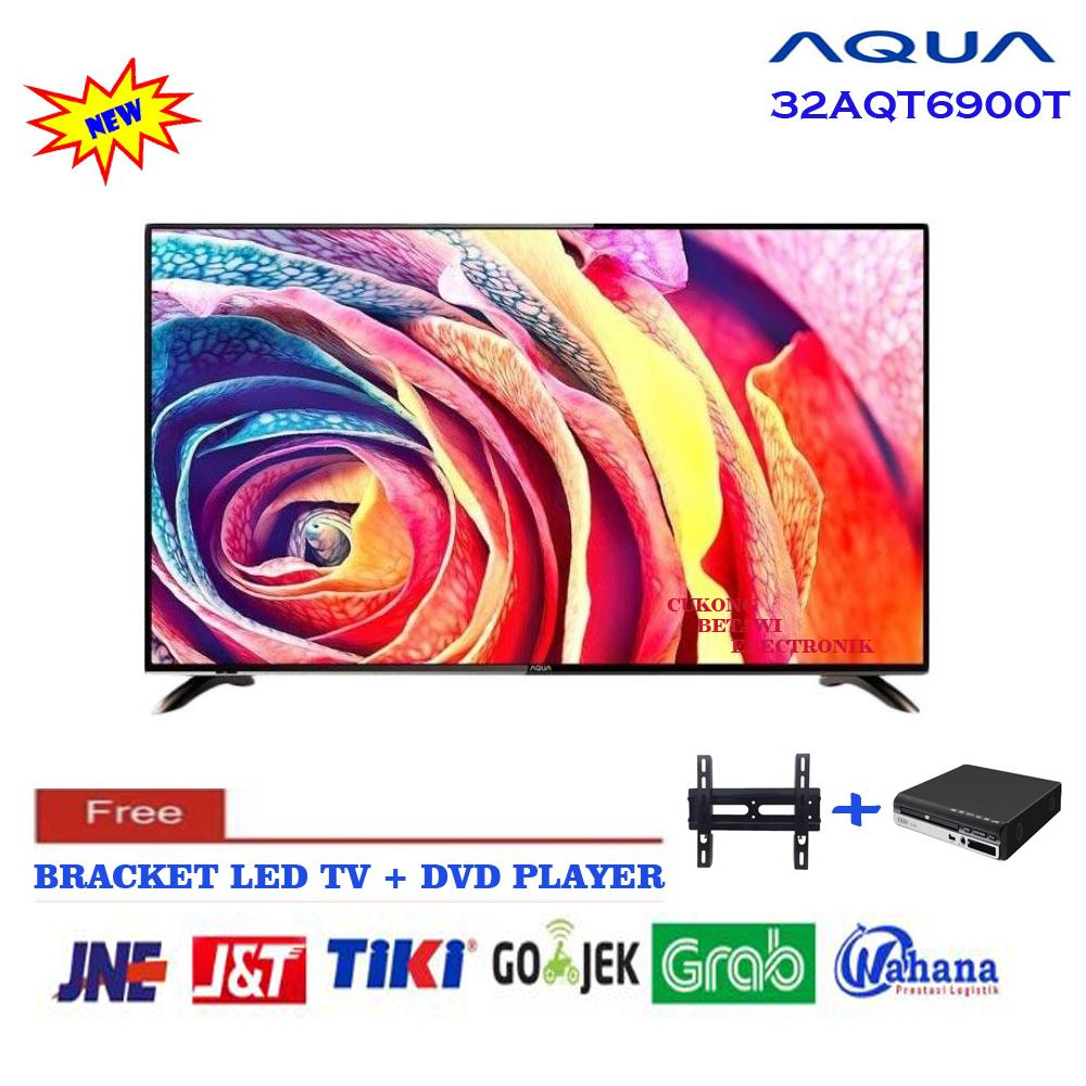 AQUA 32AQT6900T LED TV USB MOVIE Free Bracket Plus DVD MINI PLAYER-KHUSUS JABODETABEK