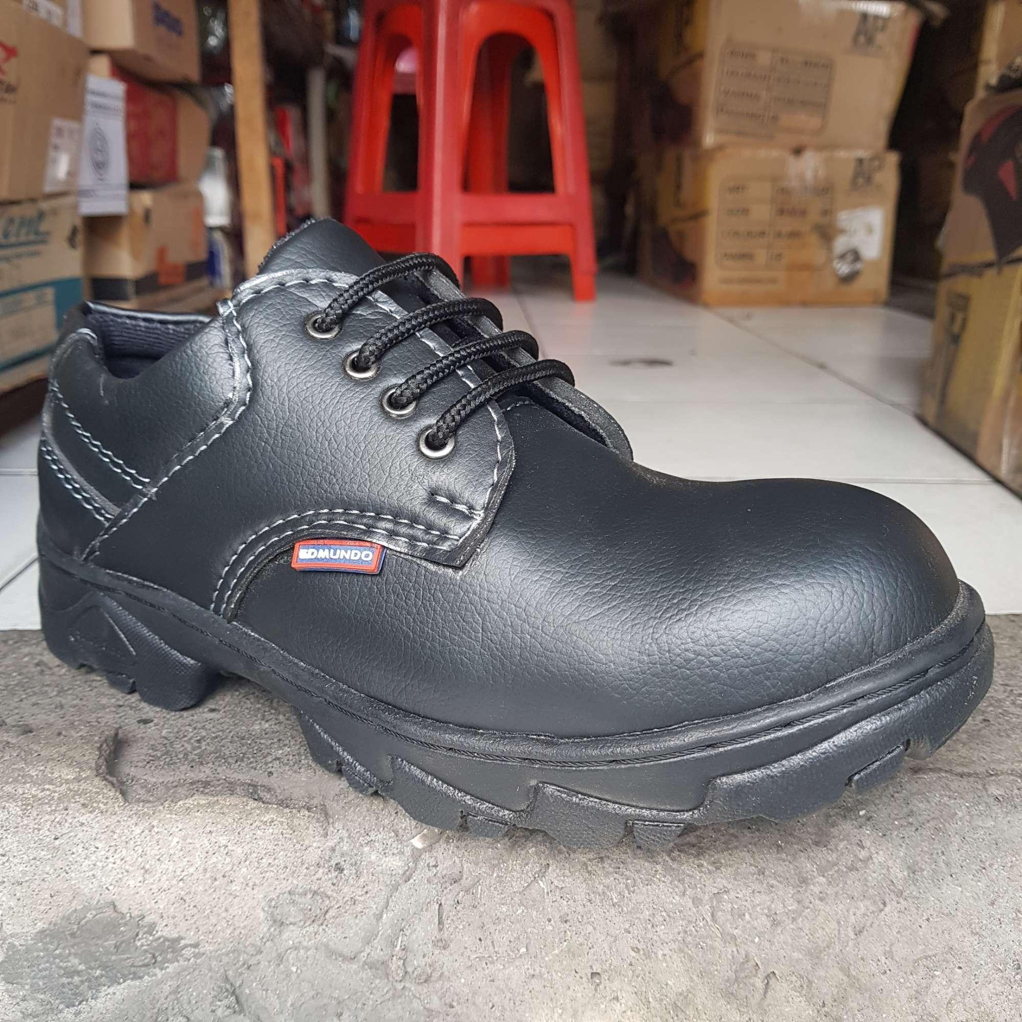 Sepatu Safety pendek sol karet Edmundo safety Berkualitas Harga Terjangkau king kingsteel chetaah krushers