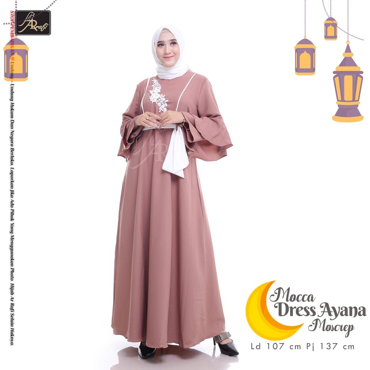 Gamis Hijab Ar Rafi Lebaran Terlaris Ayana Gamis Mosscrepe Premium Lazada Indonesia