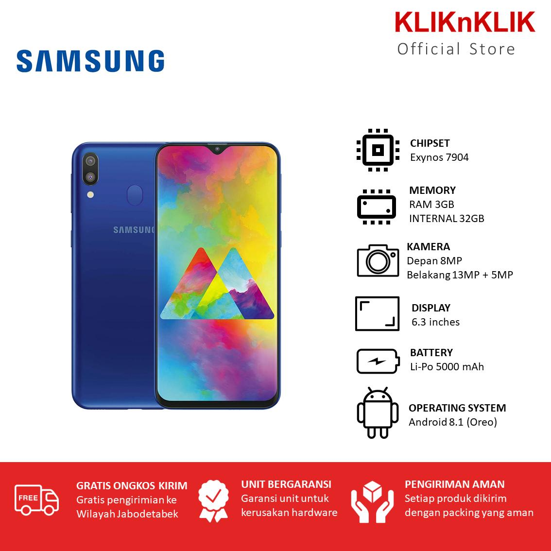 SAMSUNG Galaxy M20 RAM 3GB/32GB Blue - SEIN HP Murah