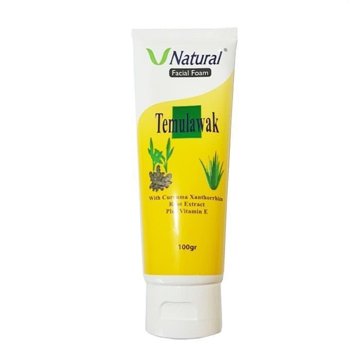 LOKA COD - Temulawak V Natural Facial Foam - Sabun Pembersih Wajah Cuci Muka Bahan Temulawak