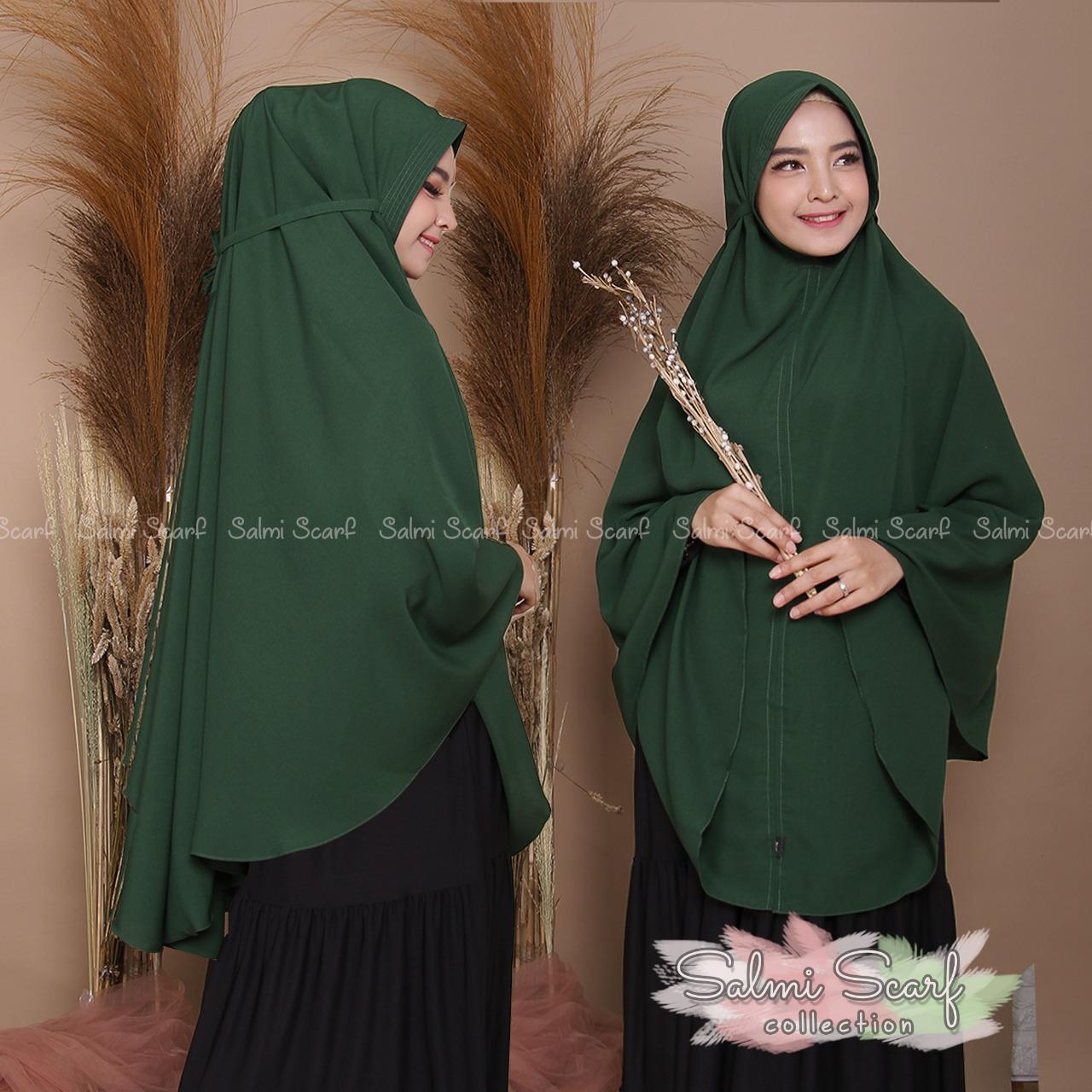 Salmi Scraf -COD KHIMAR TALI JUMBO WOLPIS / Hijab Instan / Hijab Syar'i terbaru / Jilbab Syar'i / Fashion Wanita Murah / Kerudung Wanita