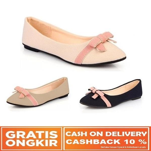 Sepatu Flat Shoes Wanita Trendi  898b4279ba