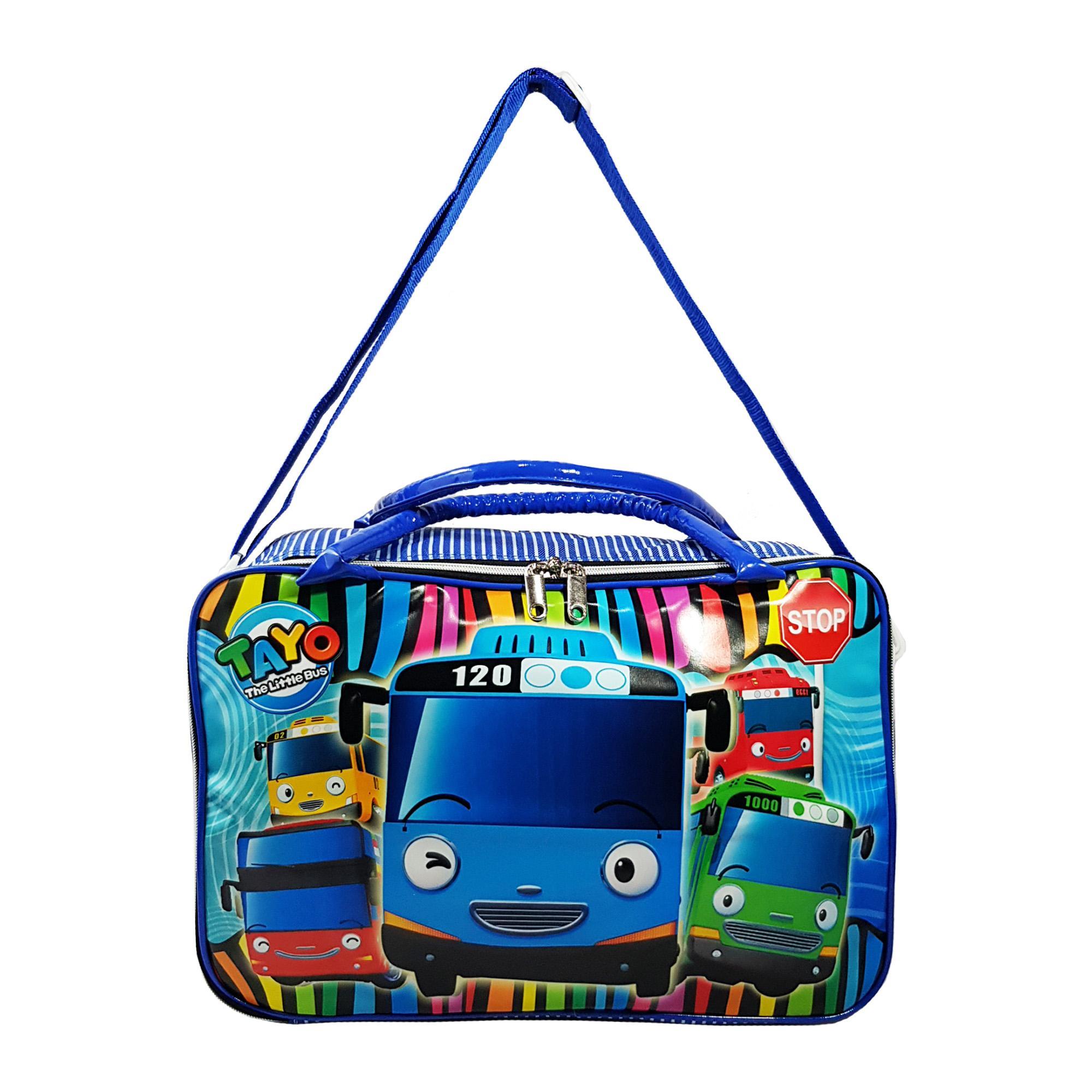 Tas Travel Anak - Travel Bag Koper Selempang Anak Gambar TAYO Ukuran Besar - WIWA