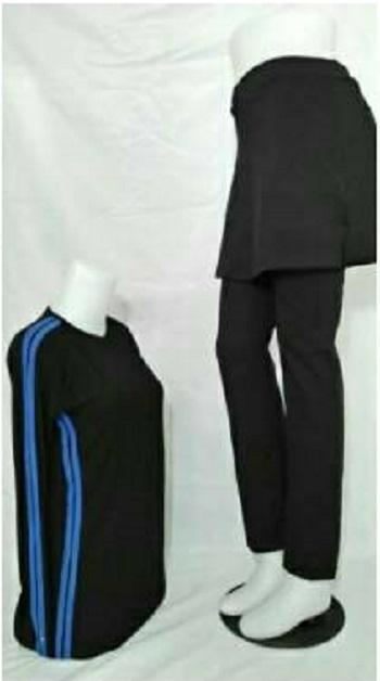 Setelan Senam Wanita Lengan Panjang / Setelan Fitnes Muslimah / Setelan Yoga Set baju Olahraga Celana