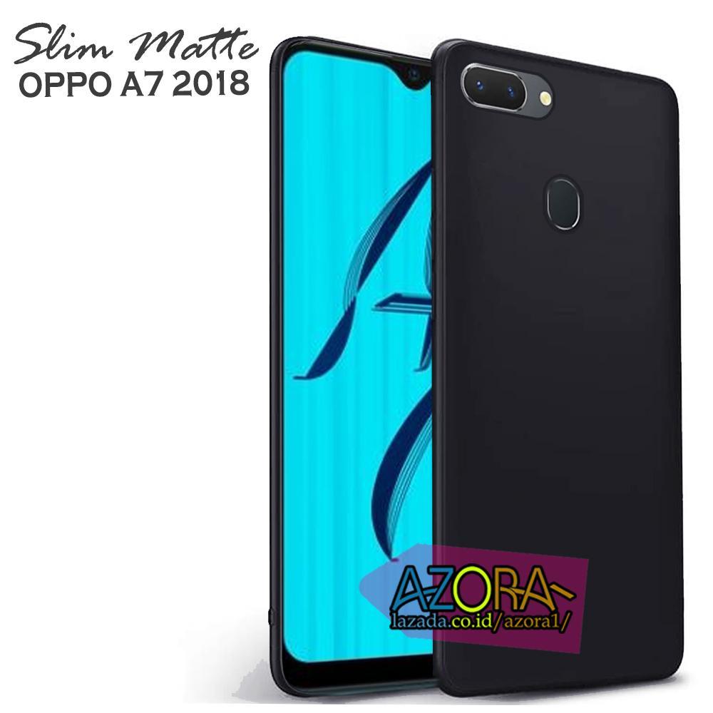 online store 2b199 897ff Case Slim Black Matte Oppo A7 / A5S ( 6.2 inch ) Baby Skin Softcase Ultra  Thin Jelly Silikon Babyskin