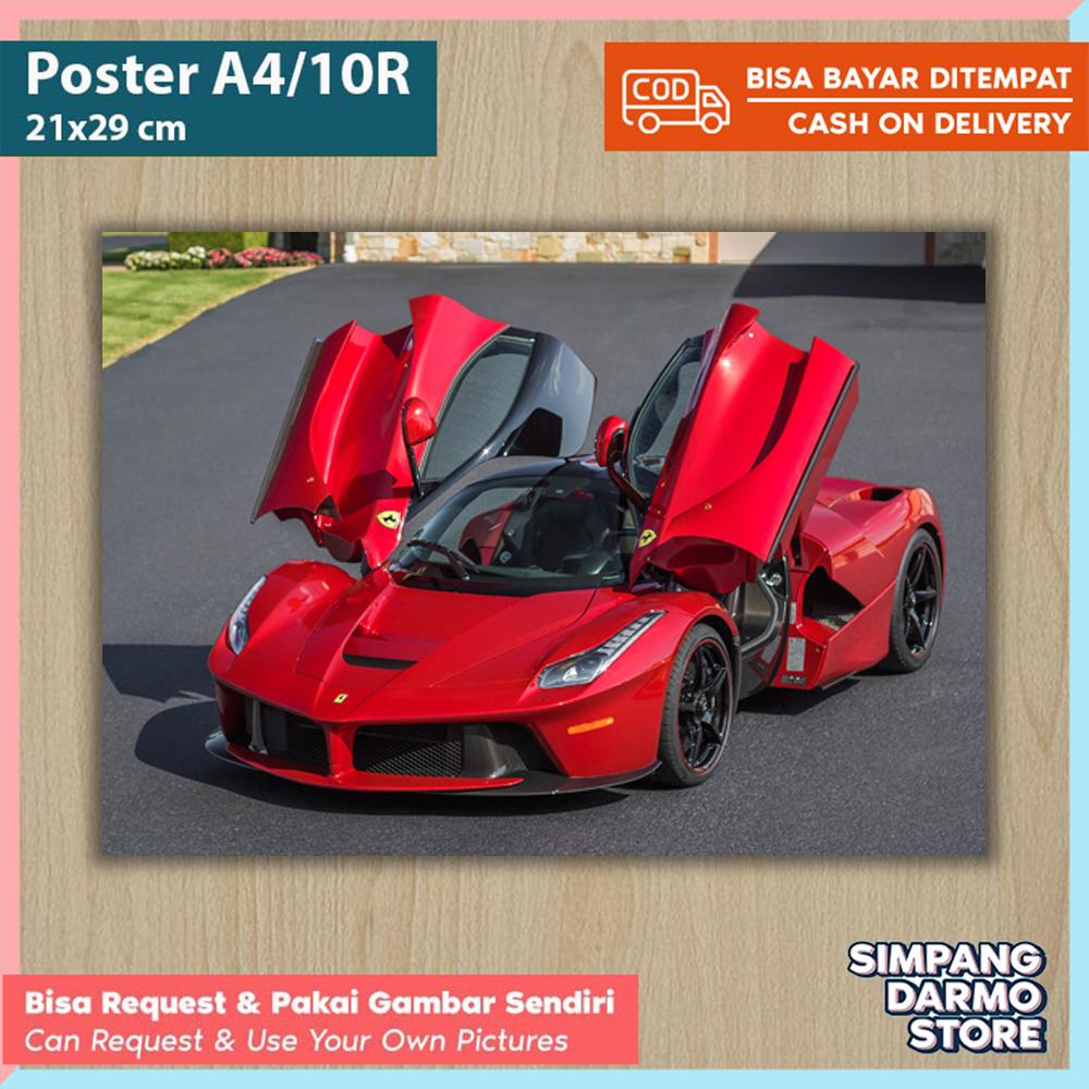 Poster Mobil Sport Ferrari Laferrari Berlinetta Ff California Tersedia Berbagai Ukuran A4 A3 Besar Kecil Hires Bisa Custom Gambar Lain Foto Mobil Balap Bmw Laborghini Foster Kamar Hiasan Dinding