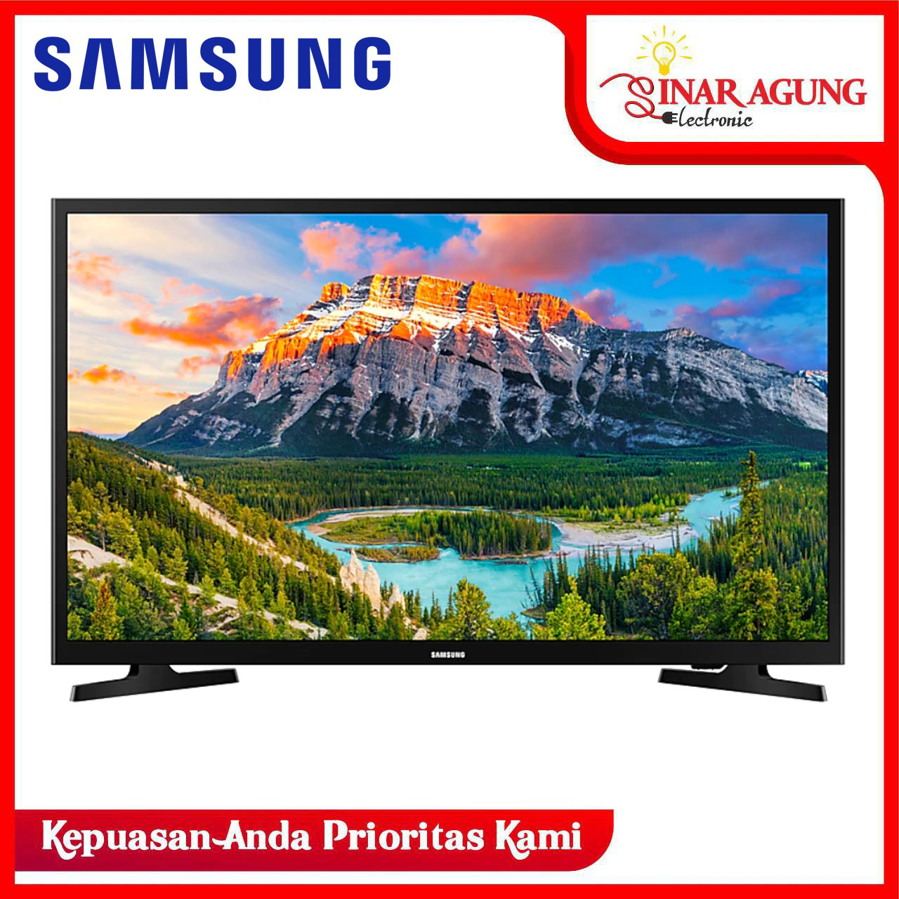 LED SMART TV SAMSUNG UA32N4300AKPXD TV [32 inch / USB MOVIE / HDMI] (GARANSI RESMI)