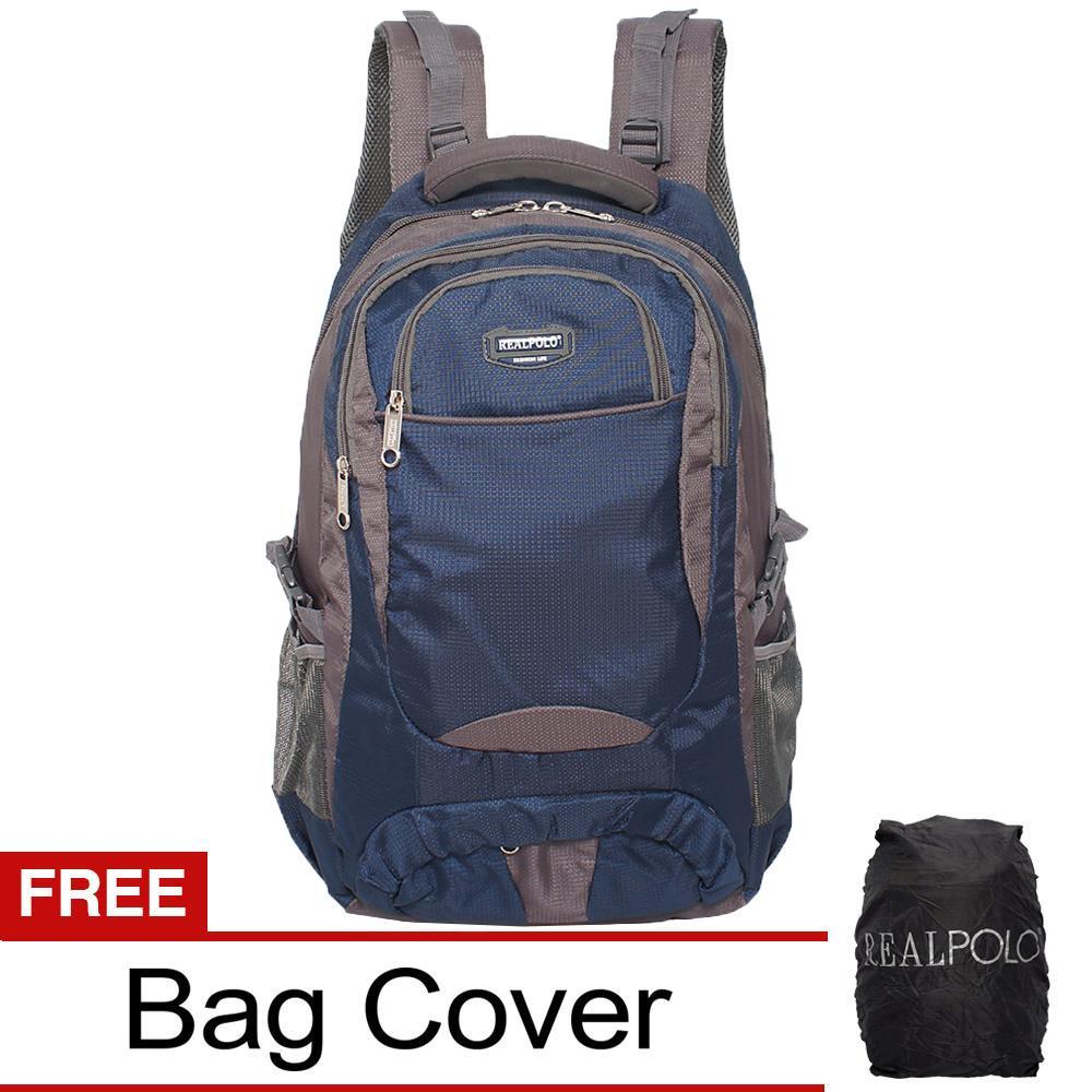 Real Polo Tas Ransel Kasual Tas Punggung Jumbo HCCJ Backpack XL Bonus Bag Cover a