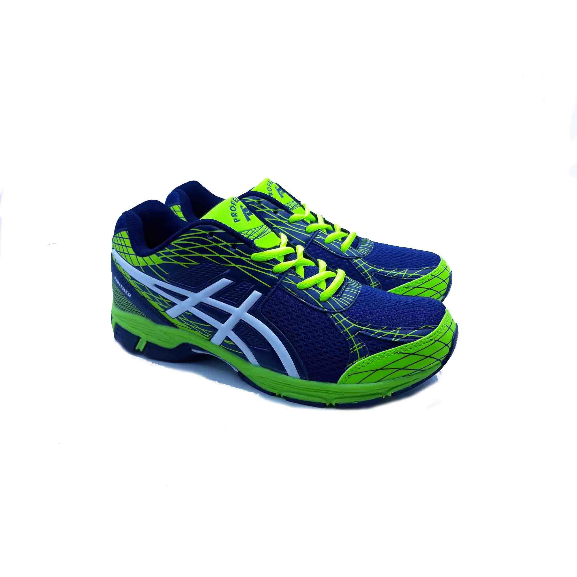 Sepatu Olahraga Pria Running Profesional Panther - Navy Neon Grenn White c9f28987a4