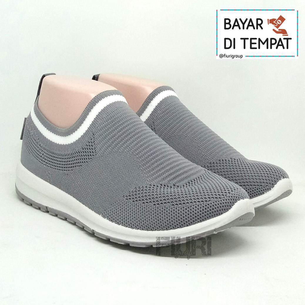 FIURI - ANDO Siera Original Grey White - Sepatu Olahraga Lari Wanita -  Sepatu Sekolah - bbbafab830
