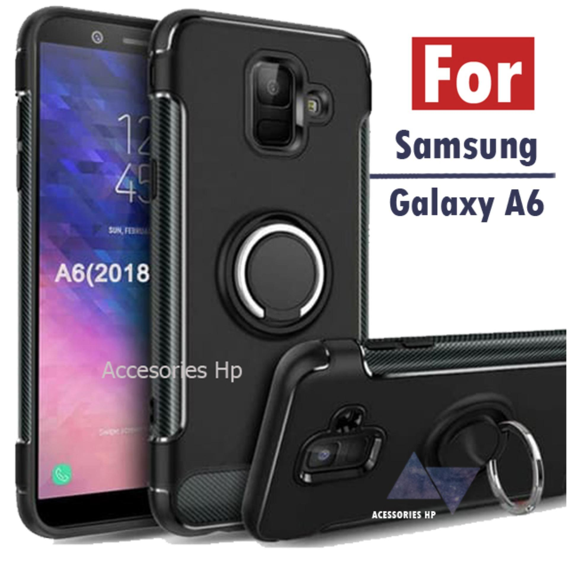 Accessories Samsung A6 2018 Ultimate Carbon Ring Kickstand
