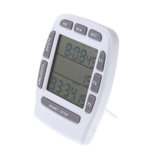 LCD Digital Alarm Timer with Triple Display 3-Line Timer Countdown Stopwatch thumbnail