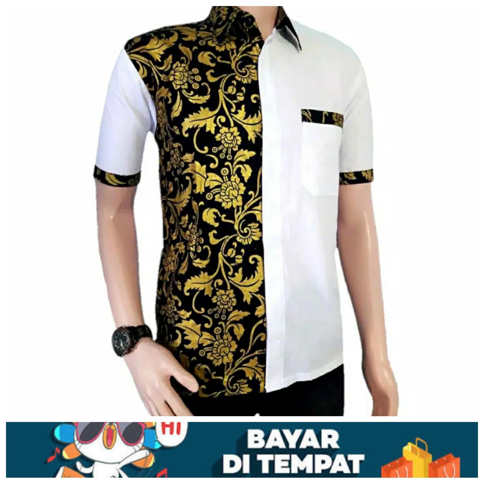 Model Baju Batik Terbaru / Baju Batik Modern / Batik Masa Kini / Baju Batik Pria Keren / Batik Modern / Baju Batik Kombinasi By Resinda Fashion Store.