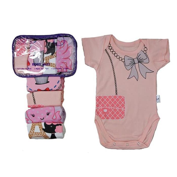 Kazel Bodysuit - Jumper Bayi Perempuan - Isi 4 pcs - Babyklik
