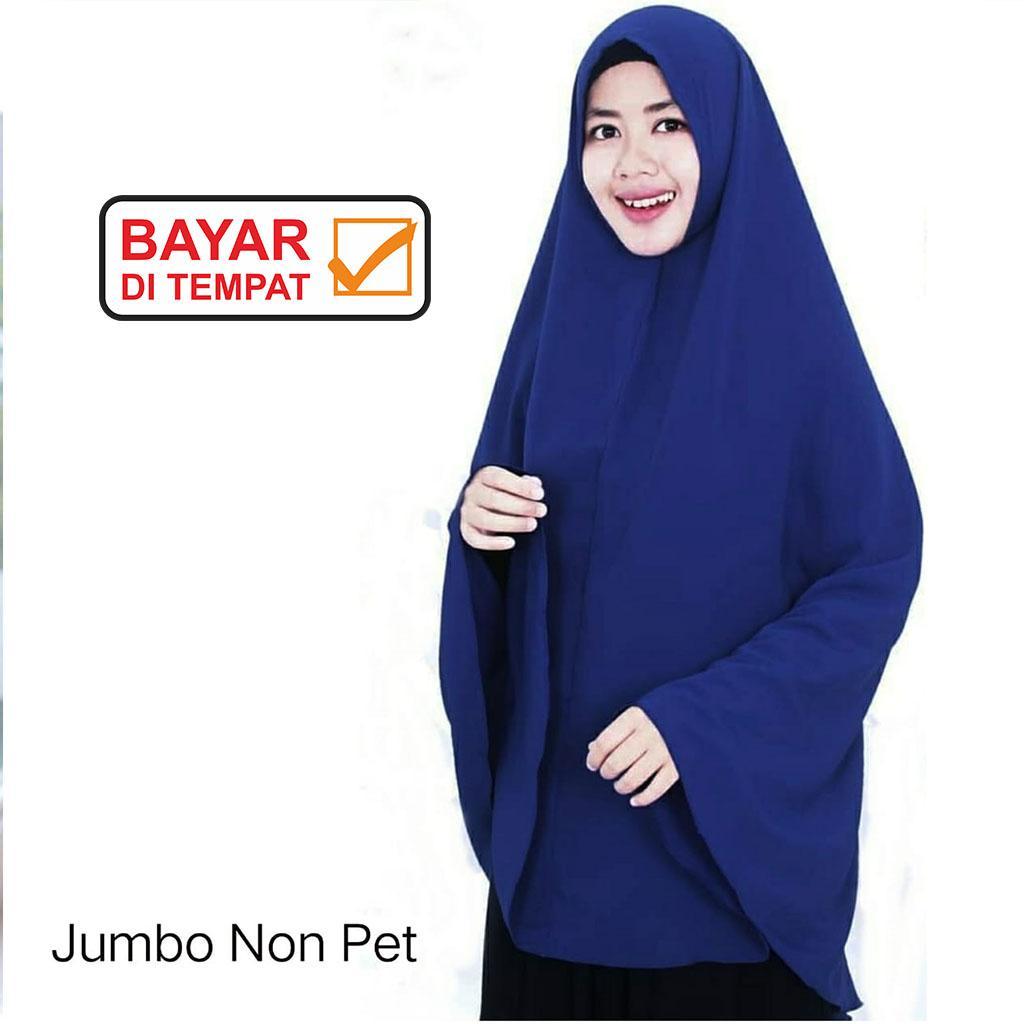 Jilbab / Hijab AZZURA Jumbo Non Pet - SYM Kerudung Khimar Syari Instan