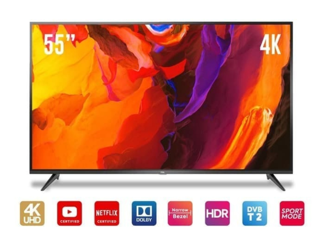 TCL 55E3 Smart TV 55 UHD 4K 55inch Digital TV With Dolby Sound