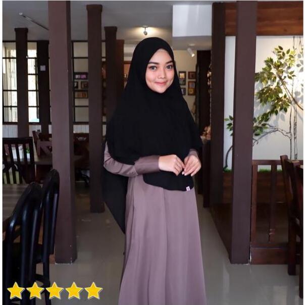 Hijab Mengerti Kamu - Khimar Pet Khimar 2 Layer Khimar Instan Kerudung Instan Kerudung Syari Hijab Instan Kekinian Hijab Syari Jilbab Instan Terbaru Jilbab Syari Warna Hitam Rara Khimar
