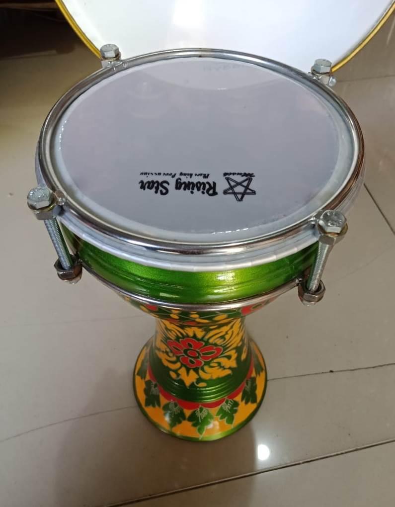 Dumbuk Marawis Batik / Rebana Marawis Hadroh / Alat Music / Musik / Qasidah / Kasidah / Tumbuk / Dunbuk / Style / - Dumbuk Calti Darbuka Pinggang Marawis Batik / Gambar - Ars By Areski Shop.