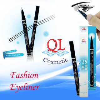 QL Fashion Eyeliner Waterproof Eye Liner BPOM 0.8g Original Asli Make Up Mata Riasan Rias Makeup Wanita Cosmetic Longlasting Tahan Lama Spidol Ujung Runcing Mudah Dipakai Penghias Garis Mata Kosmetik Dandan - Black thumbnail