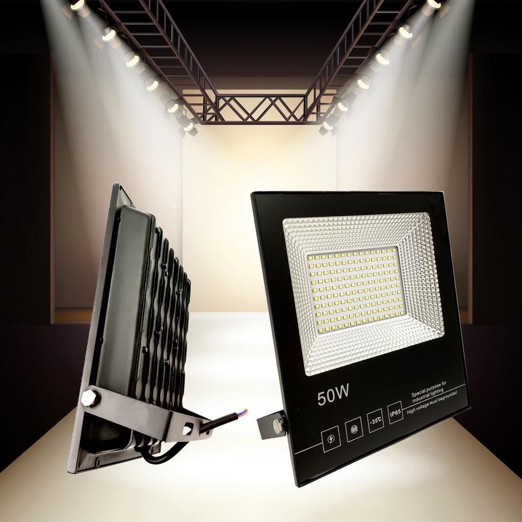 LAMPU SOROT LED SMD 50W IP66 PUTIH / LAMPU TAMAN FLOOD LIGHT WHITE 50 WATT