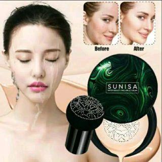 Sunisa Water Beauty And Air Cc Cream Foundation BB Cream With Mushroom Sponge - ORIGINAL 100% thumbnail