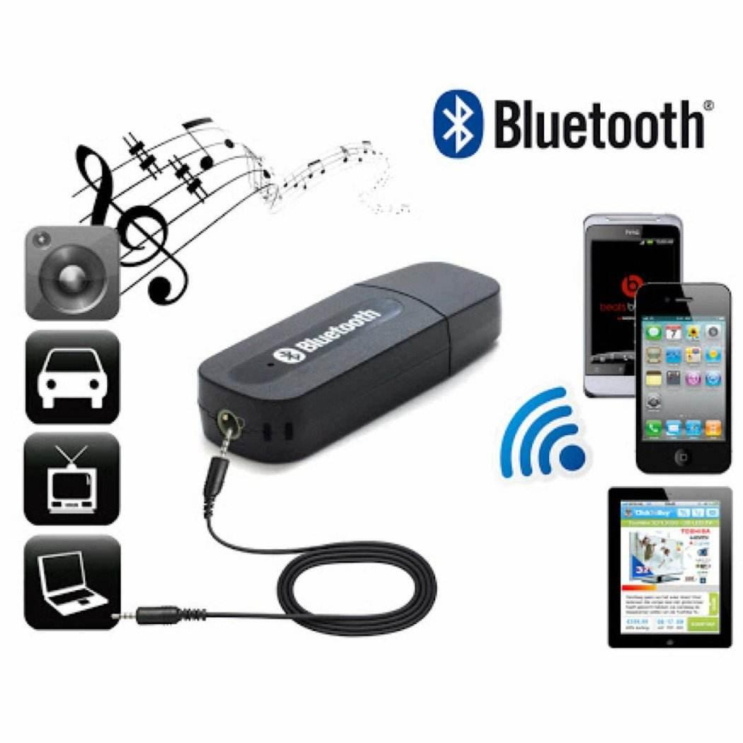 Portable USB 3.5mm Version 2.1 AUX Wireless Bluetooth Music Audio Receiver Adapter Car AUX Home