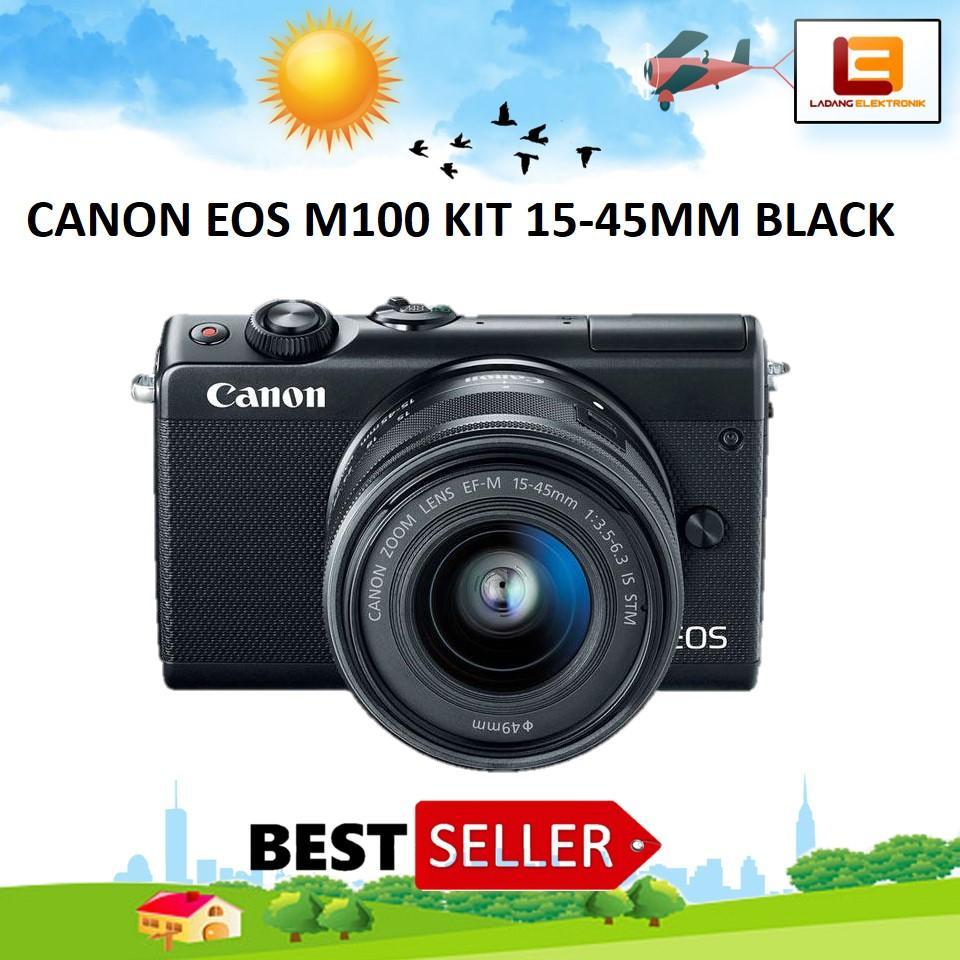 Dijamin Murah Canon Eos M100 Kit 15 45mm Kamera Mirrorless Black