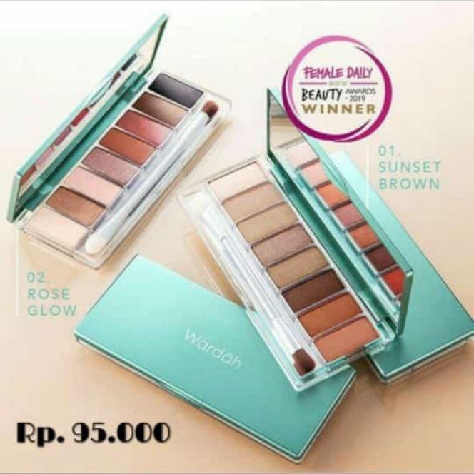 wardah exclusive eyeshadow palette