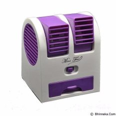 AC Duduk Mini Portable AP Ungu Handy Cooler Fan Kipas Angin Aromaterapi Parfum
