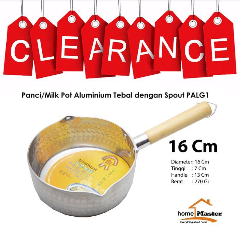 Panci/Milk Pot Aluminium dengan Spout Multifungsi Gagang 1 PALG116 16cm