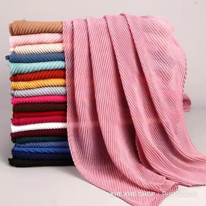 AS_JUMBO 190 X 90 hijab pasmina model prisket /plisket garis garis serut.jilbab plisket..TERBESAR 190 X 90 terpopuler
