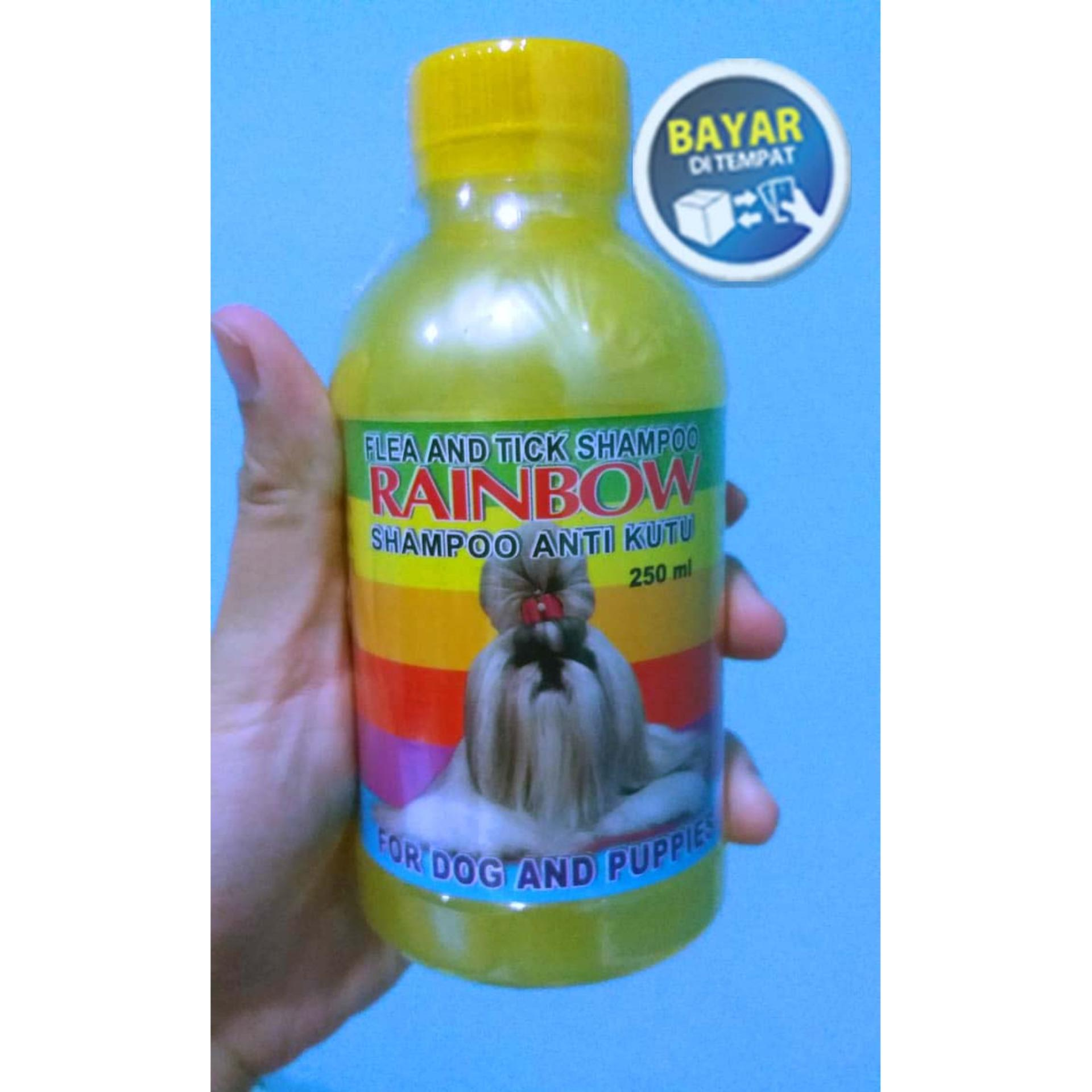 Shampoo Anti Kutu Anjing & Flea Rainbow Ukuran 250ml Kuning By Banyu Shop.
