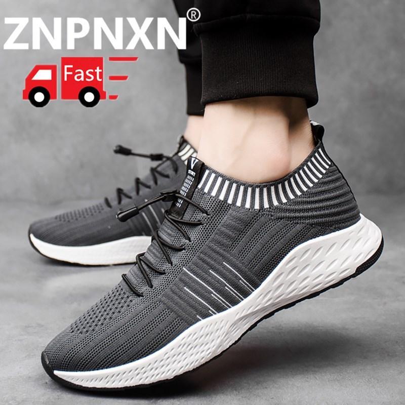 ZNPNXN Baru Seksi Gaya Pria Lari Sepatu Renda Hingga Sepatu Olahraga Luar  Ruangan Jogging Berjalan Atletik 9eb74c07a3