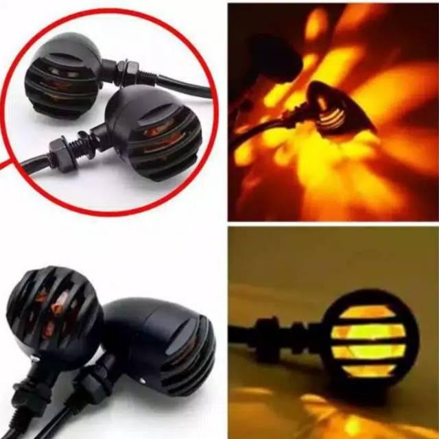 lampu sen tralis model japstyle besi warna hitam lampu sen