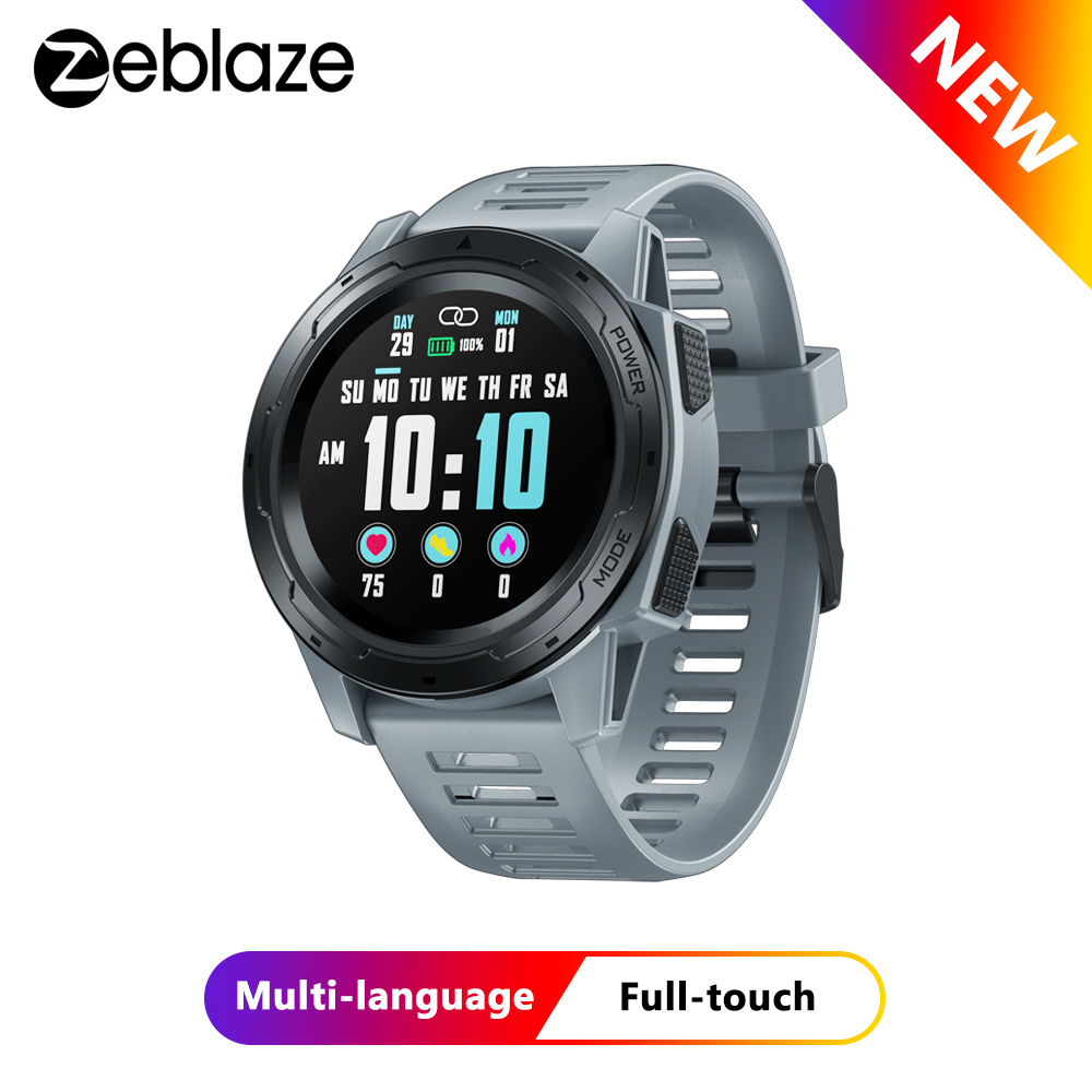 Zeblaze VIBE 5 PRO Color Touch Display Smartwatch Heart Rate Multi-sports Tracking Smartphone Notifications WR IP67