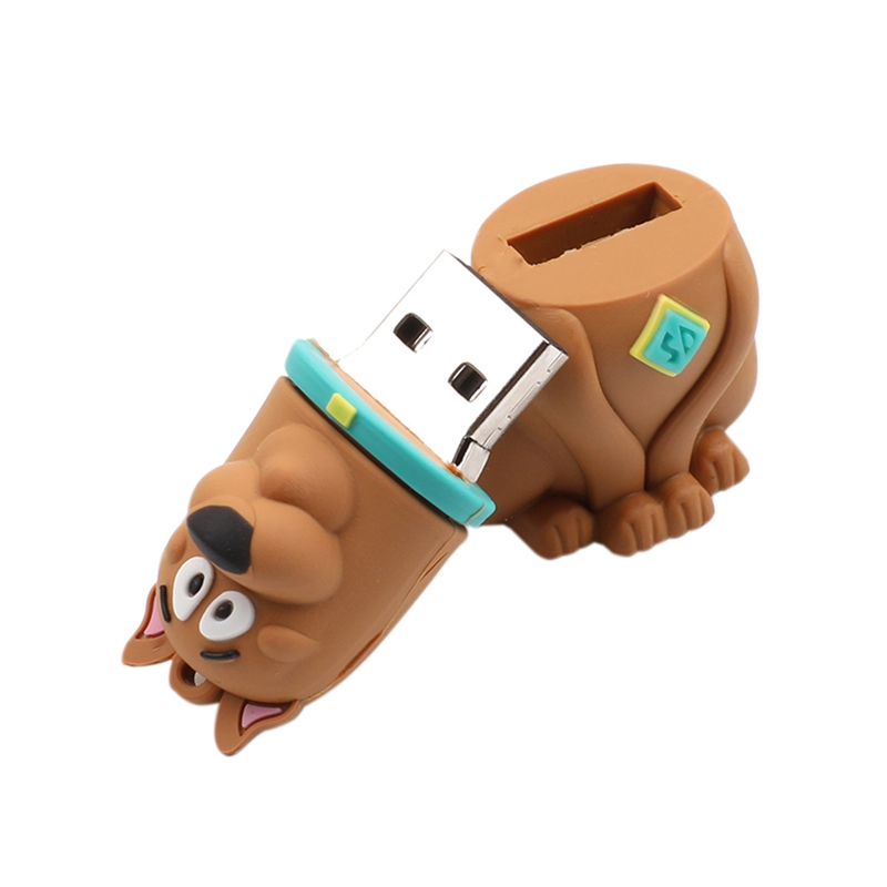 Pen Drive Dog 128GB USB 2.0 Flash Drive Cartoon Animal UDisk Mini Gift Malaysia