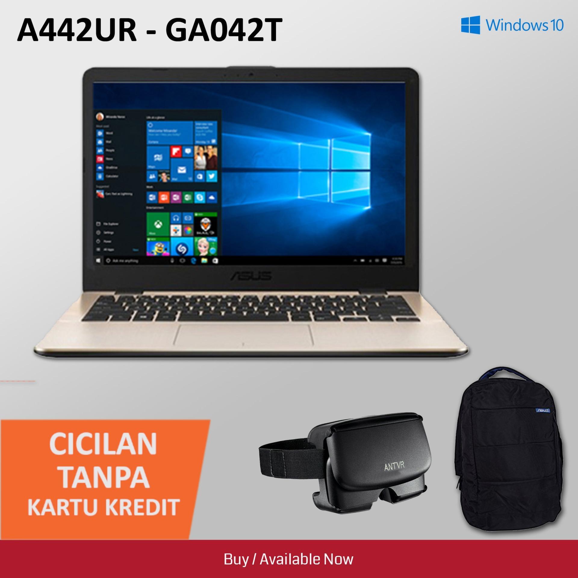 Asus A442UR Notebook [Win 10 Original/ 1 TB/ I5-8250U/ 4GB /  GeForce GT 930MX] + Free Virtual Reality & Backpacks